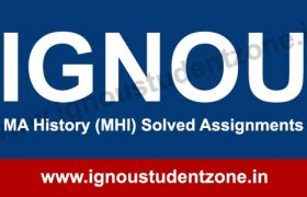 IGNOU MA History Solved assignments in English & Hindi Medium