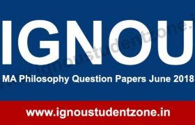 IGNOU MA Philosophy June 2018 question papers