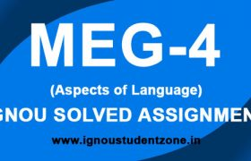IGNOU MEG 4 Solved Assignment