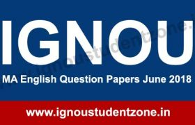 IGNOU MEG Question Papers June 2018