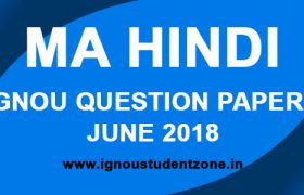 IGNOU MHD Question Paper June 2018