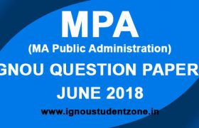 IGNOU MPA Question Papers June 2018