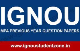 IGNOU MPA Question Paper of Dec 2018, June 2018