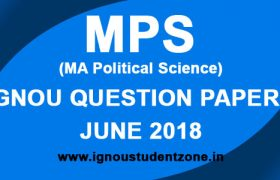 IGNOU MPS Question Paper June 2018