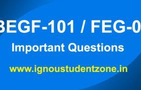 FEG 1 Important Questions & Guess paper