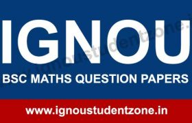 IGNOU B.Sc. Maths Question Papers