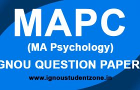 IGNOU MA Psychology Question Paper