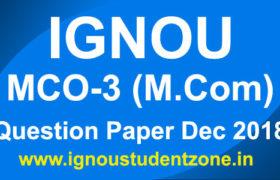 IGNOU MCO 3 Question Paper Dec 2018