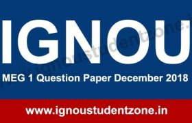 MEG 1 December 2018 IGNOU Question paper