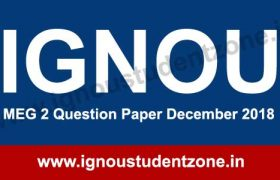December 2018 MEG 2 Question Paper