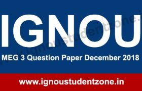 IGNOU MEG 3 Question Paper Dec 2018