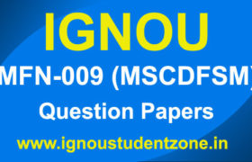 IGNOU MFN 009 Question Paper (MSCDFSM Previous Papers)