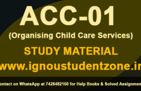 IGNOU ACC 1 Study Material Free Download