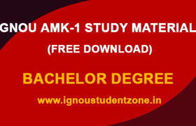 IGNOU AMK 1 Study Material