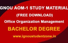 IGNOU AOM 1 Study Material & Books