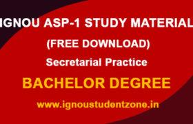 IGNOU ASP 1 Study Material & Book
