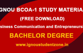 IGNOU BCOA 1 Study Material & Books Free Download