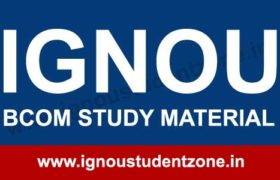 IGNOU B.Com Study Material Free Download
