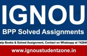 IGNOU BPP Solved Assignment