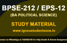IGNOU BPSE 212 Study Material Free Download (EPS-12)