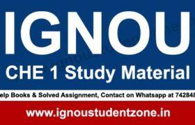 IGNOU CHE 1 Study Material