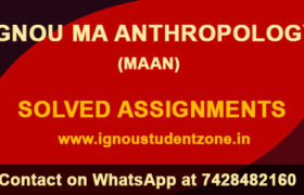 IGNOU MA Anthropology Solved Assignment 2018-19 (MAAN)