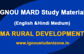 IGNOU MARD Study Material in English and Hindi