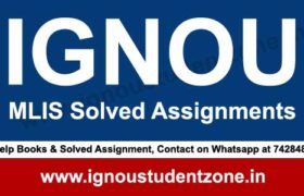 IGNOU MLIS Solved Assignment 2018-19