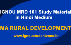 MRD 101 study material / books in hindi medium (IGNOU)