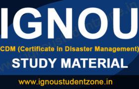 IGNOU CDM Study Material