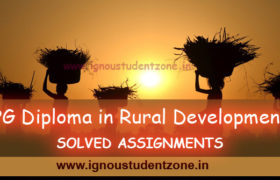 IGNOU PGDRD Solved Assignment 2018-19