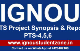 IGNOU BTS Project Report (PTS-4,5,6)