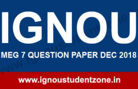 IGNOU MEG 7 Question Paper Dec 2018