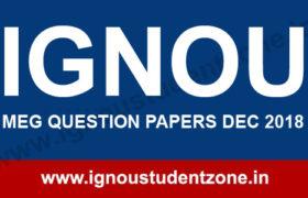 IGNOU MEG Question Papers Dec 2018