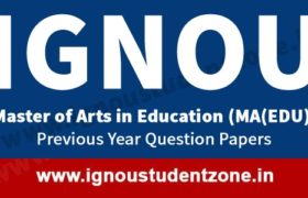 IGNOU MA Education Question Paper