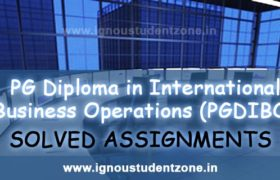 IGNOU PGDIBO Solved Assignment