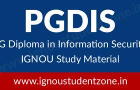 IGNOU PGDIS Study Material