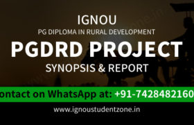 IGNOU PGDRD Project Synopsis & Report