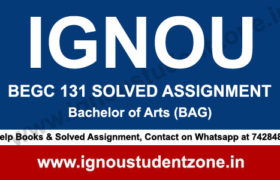 IGNOU BEGC 131 Solved Assignment