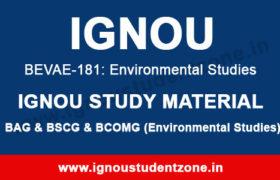 ignou bevae 181 study material