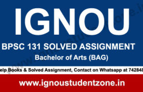 IGNOU BPSC 131 Solved Assignment